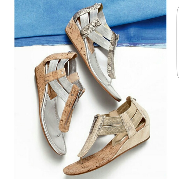 b73381dbadfc Donald J. Pliner Shoes - Donald J Pliner DORI Metallic Demi-Wedge Sandal▫